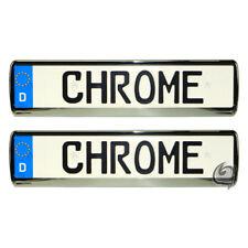 2x Chrome License Plate Holder Tuning Peugeot 406+407+806+807 + Partner