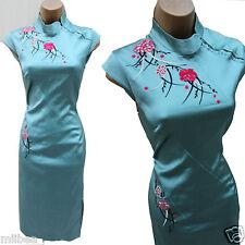 Karen Millen Light Green Chinese Oriental Style Embroider Wiggle Dress sz12 US-8