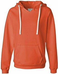 J. America Sydney Ladies' Brushed V-Neck Hooded Fleece Hoodie Sweatshirt 8836