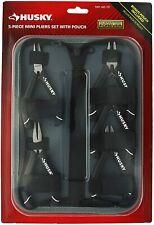 NEW!!  HUSKY Mini Pliers Set with Bonus Pouch (5-Piece)