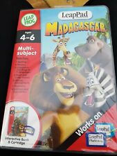 LeapPad LeapFrog cartridge And Book Madagascar Game Leap Pad Excellent Condition