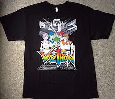 New Mens(Lrg) VOLTRON T-SHIRT Black&Rainbow 100%Cotton Defender of the Universe