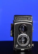 Classic Yashica A 120 Film TLR Camera with beautiful Yashica A leather case