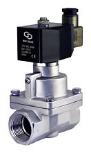 """1"""" Inch Normally Closed High Pressure Electric Steam Solenoid Process Valve 12V"""