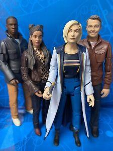 DOCTOR WHO FIGURES - TEAM TARDIS THE 13TH DOCTOR & COMPANIONS YAZ GRAHAM & RYAN