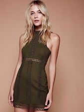 FREE PEOPLE Sky Scraper Mini Dress Olive Green Medium M $250
