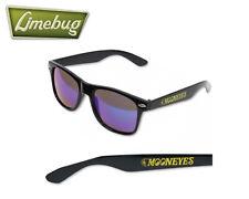 Mooneyes Logo Mirror Sunglasses Shades Black Frame Blue UV Cut Mirror Lenses