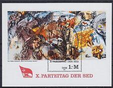 DDR Block 63 mit SST Berlin 10. SED Parteitag 1981, used