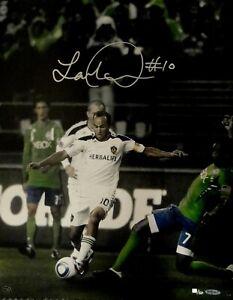 Landon Donovan Hand Signed Autograph 16x20 Photo Kicking Ball 10/50 UDA