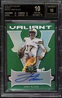 JOSH ALLEN 'BLACK LABEL' ROOKIE CARD! 2018 LEAF (AUTO) /60. RARE. POP 2. BGS.10