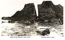 AUSTRALIA Victoria Philip Island. Rocks at Cape Woolamal Valentines Series 4932