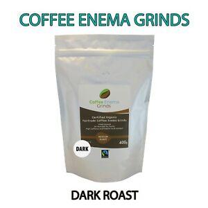 COFFEE ENEMA GRINDS DARK ROAST ORGANIC FAIRTRADE GERSON AIR ROASTED 400g Aus