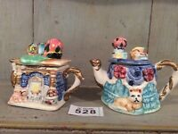 2 Vintage/Retro Regency fine Arts Porcelain Collectors Teapot Fire Place & Table