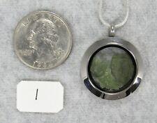 MOLDAVITE PENDANT $45 Tektite Stainless Steel Jewelry STARBORN CREATIONS MP49-L1