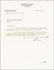 JEAN F. PICCARD - TYPED LETTER SIGNED 03/19/1938