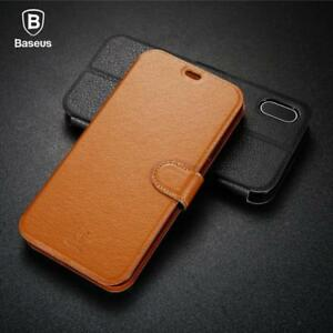 Elegant Leather Flip Case For iPhone X Fashion Simple Wallet Leather Case For iP