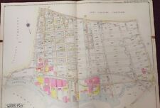 1915 UPDATED TO 1919 ELMHURST - MASPETH LAUREL HILL CALVARY CEMETERY  ATLAS MAP