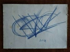 GIACOMO BALLA    DRAWING SIGNED CHARCOAL ON PAPER OF THE 900s