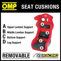 OMP RACE SEAT REMOVABLE VELOUR CUSHIONS FULL SET OF BLACK - 4 CUSHIONS INCLUDED!
