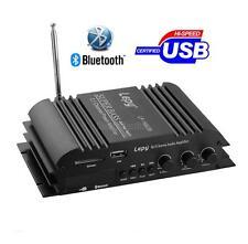 Bluetooth HiFi Stereo Power Amplifier 2.1 Channel Audio Bass Amp USB SD/MMC Card