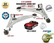 FOR MAZDA MX5 MX-5 MARK 3 2005 > NEW 2 X FRONT WISHBONE ARM + BALL JOINT SET