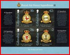 GIBRALTAR 2012 ROYAL AIR FORCE S/S  MNH £3.28 PLANES (see MATCHING SET of STAMPS