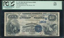 1882 DB $10 National Manufacturers NB, Racine, WI Ch. #1802 PCGS 15 *RARE*
