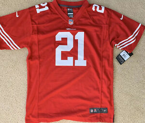 San Francisco 49ERS Frank Gore NFL Jersey Youth  XL Red On Field NIKE  New