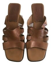 COLE HAAN Womens Brown Handmade Leather Sandals Size 8AA
