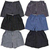 New 3-12 Mens Boxers Trunk Check Plaid Shorts Underwear Briefs Summer Size S-4XL
