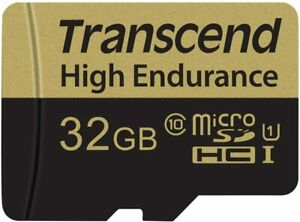 Transcend 32GB High Endurance microSDXC/SDHC Memory Card with Adapter