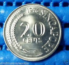 1976 Singapore 20 Cents Sword Fish Coin