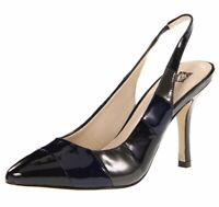 Anne Klein Womens Size 8 M Black Zaria Sy Slingback Pointy Toe Pump Shoes