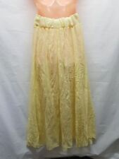 CAROLINE MORGAN SIZE 12 LONG LEMON  SMART CASUAL SKIRT