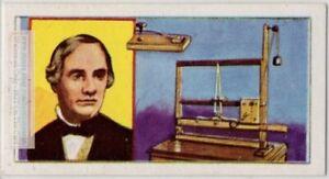 Samuel Morse Single Wire Telegraph Morse Code Inventor  Vintage Trade Ad Card