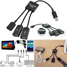 Micro USB doppio ospite OTG Hub Cavo adattatore per Google Nexus Samsung S3 S4