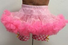 MUDPIE Baby Full TUTU PINK POLKADOT Swim Suit Shorts SKIRT 0-3-6 mo Looks Unworn