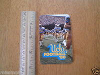 UCLA Football schedule wallet card 1980 Bruins