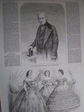 The late Lord Thomas Babington Macaulay 1860 old print and article