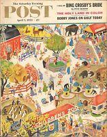 APRIL 5 1958 SATURDAY EVENING POST magazine CHILDRENS ZOO