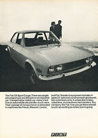 1970 Fiat 124 Sport coupe bw Classic Vintage Advertisement Ad A4-B