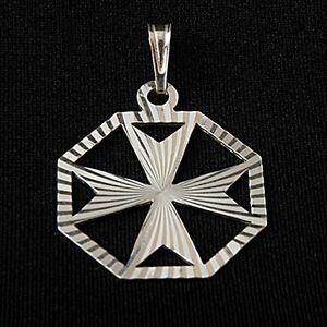 30%Off Hallmarked Genuine Sterling Silver 925 Maltese Malta Amalfi Cross Pendant