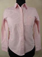 Zauberhafte DANIEL HECHTER  Bluse, Hemd 100% Baumwolle rot - weiß - gestr. Gr 42