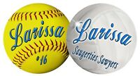 Softball Volleyball Together Decal Bumper Sticker Personalize Gifts Girls Boys