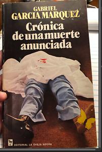 CRONICA DE UNA MUERTE ANUNCIADA SPANISH First EDITION By Garcia Gabriel Marquez