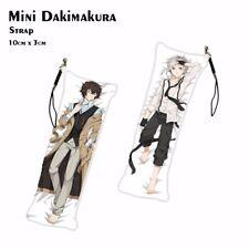Bungou Stray Dogs Mini Dakimakura Anime Keychain Phone Strap Bag Hanging