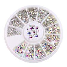Nail Art Strasssteine im Rondell 9 verschiedene Größen multicolor Glas Strass AB