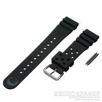 Genuine Seiko Z22 Watch Band for Diver SKX007 SKX009 22mm Black Rubber Flat Vent