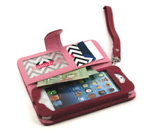 New For iPhone 5S 5C 5SE Leather Flip Cover Credit Card Wristlet Wallet Case