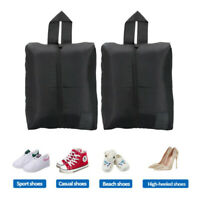 Solid Portable Waterproof Travel Shoe Bag Foldable Pouch Beach Shoes Organizer